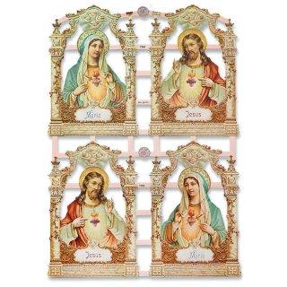 ドイツ クロモス【M】イエス・キリスト 聖母マリア バラ 十字架 天使