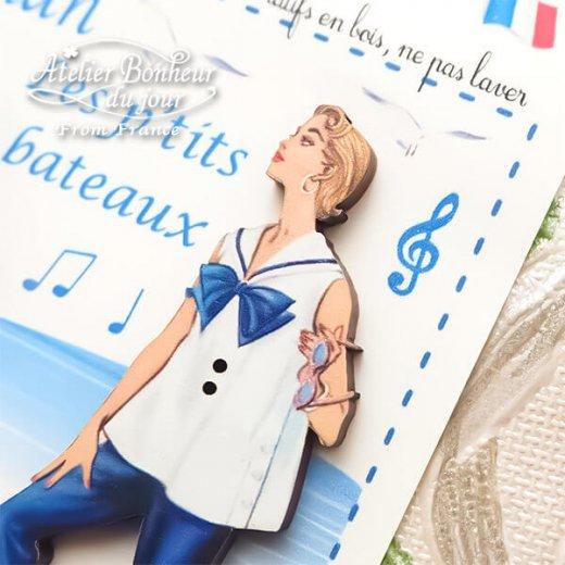 【お得なボタンセット】フランス輸入ボタン アトリエ・ボヌール・ドゥ・ジュール(マリン ヨット 幼子 Maman Les P'tits Bateaux お母さん)【画像6】