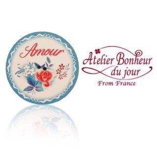 フランス輸入ボタン アトリエ・ボヌール・ドゥ・ジュール  フランス輸入ボタン アトリエ・ボヌール・ドゥ・ジュール【Amour 愛 Digoin ディゴワン バラ 】