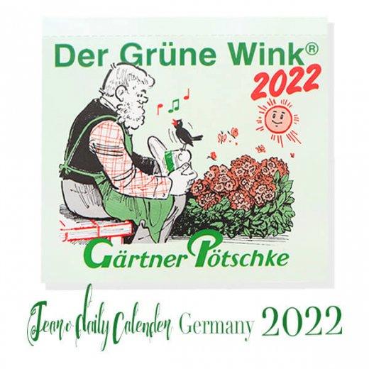 【予約販売になりました】10月中旬〜下旬入荷 2022年ドイツ RUNNEN (ブルネン) ガーデニング 日めくりカレンダー