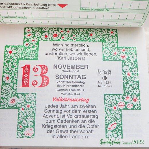 【予約販売になりました】10月中旬〜下旬入荷 2022年ドイツ RUNNEN (ブルネン) ガーデニング 日めくりカレンダー【画像6】