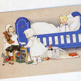 天使 エンジェル 雑貨 フランスポストカード (Lit bleu)