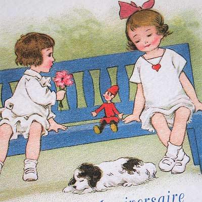 フランスポストカード (Joyeux anniversaire B)【画像3】