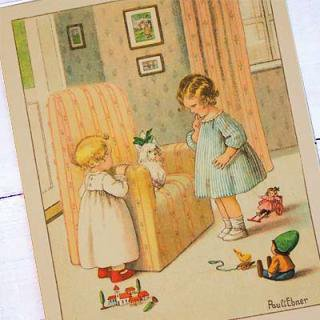 動物 アニマル柄 フランスポストカード (J'ai ete trouble )
