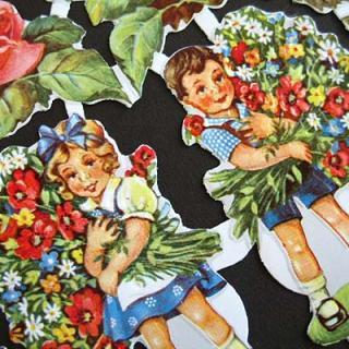 スクラップブッキング ドイツ クロモス【M】<花の贈り物>