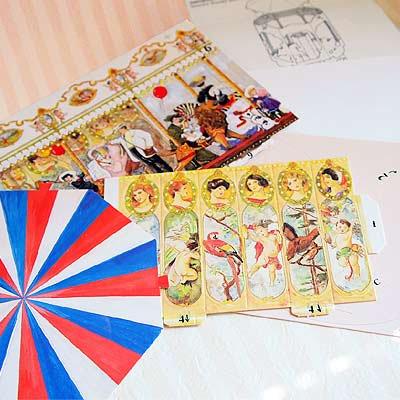 フランス ペーパークラフトカード 【メリーゴーランド】【画像2】