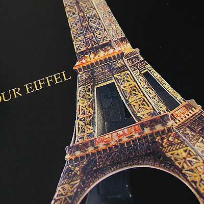 フランス ペーパークラフトカード 【エッフェル塔】【画像3】