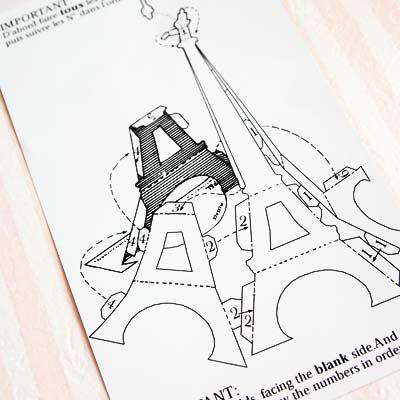 フランス ペーパークラフトカード 【エッフェル塔】【画像4】