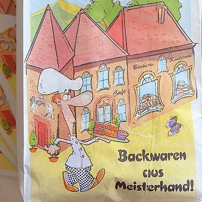 マルシェ袋 ドイツ 海外市場の紙袋(カフェウェイター)5枚セット【画像2】