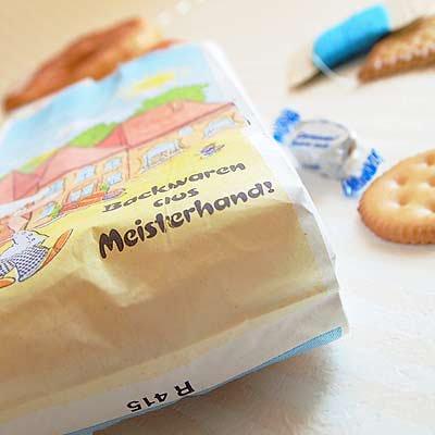 マルシェ袋 ドイツ 海外市場の紙袋(カフェウェイター)5枚セット【画像3】