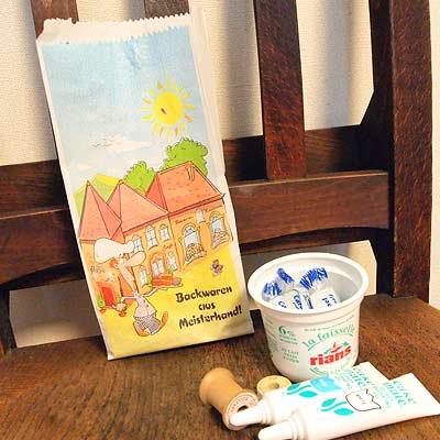 マルシェ袋 ドイツ 海外市場の紙袋(カフェウェイター)5枚セット【画像4】