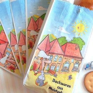 マルシェ袋 ドイツ 海外市場の紙袋(カフェウェイター)5枚セット