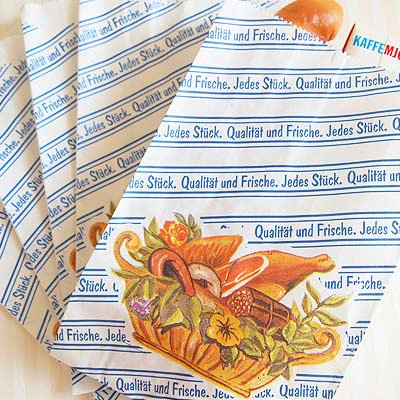 マルシェ袋 ドイツ 海外市場の紙袋 (フレッシュソーセージ)5枚セット