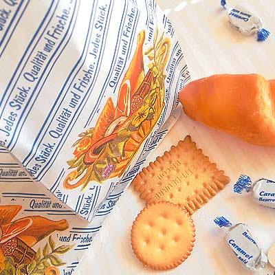マルシェ袋 ドイツ 海外市場の紙袋 (フレッシュソーセージ)5枚セット【画像3】