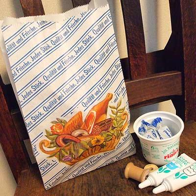 マルシェ袋 ドイツ 海外市場の紙袋 (フレッシュソーセージ)5枚セット【画像4】