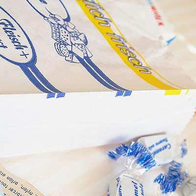 マルシェ袋 ドイツ 海外市場の紙袋(Edekaマーケット)5枚セット【画像2】