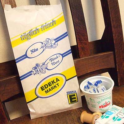 マルシェ袋 ドイツ 海外市場の紙袋(Edekaマーケット)5枚セット【画像4】
