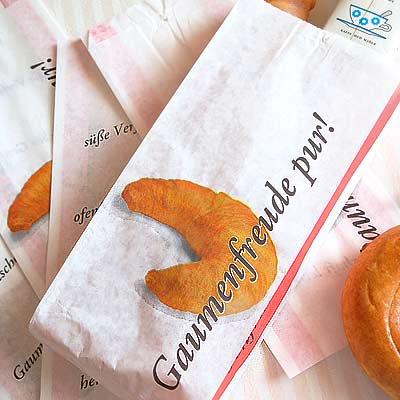 マルシェ袋 ドイツ 海外市場の紙袋(クロワッサン)5枚セット