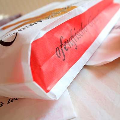 マルシェ袋 ドイツ 海外市場の紙袋(クロワッサン)5枚セット【画像2】