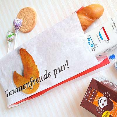 マルシェ袋 ドイツ 海外市場の紙袋(クロワッサン)5枚セット【画像3】