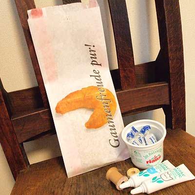 マルシェ袋 ドイツ 海外市場の紙袋(クロワッサン)5枚セット【画像4】