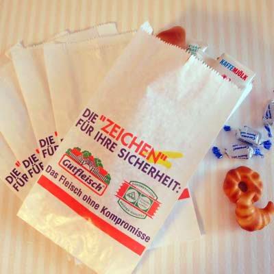 マルシェ袋 ドイツ  海外市場の紙袋(フライシュマーケット)5枚セット【画像2】