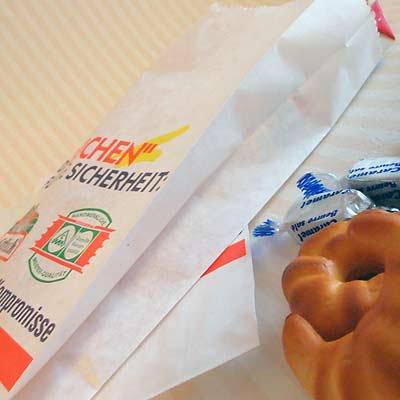 マルシェ袋 ドイツ  海外市場の紙袋(フライシュマーケット)5枚セット【画像3】
