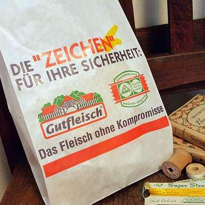 マルシェ袋 ドイツ  海外市場の紙袋(フライシュマーケット)5枚セット【画像4】