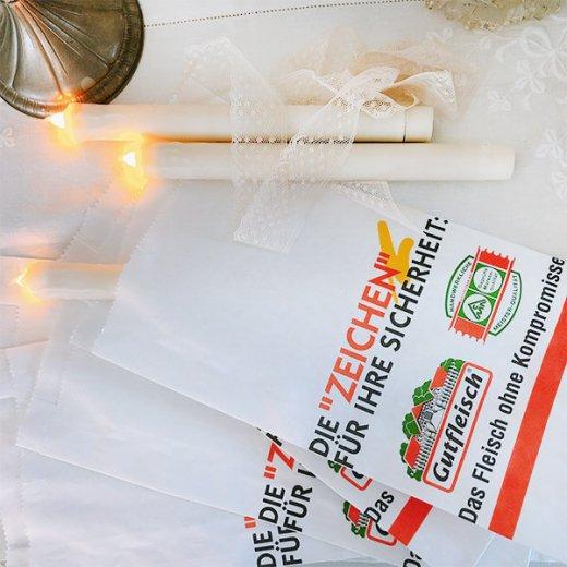 マルシェ袋 ドイツ  海外市場の紙袋(フライシュマーケット)5枚セット【画像5】