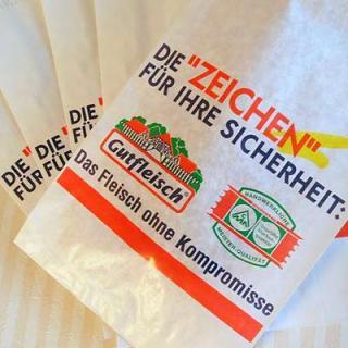 マルシェ袋 ドイツ  海外市場の紙袋(フライシュマーケット)5枚セット
