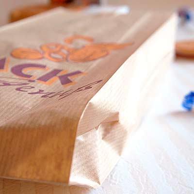 マルシェ袋 ドイツ  海外市場の紙袋(BACKブレッド)5枚セット【画像3】