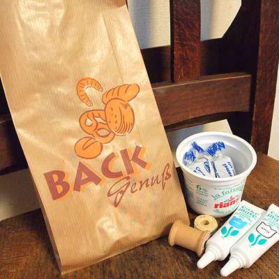 マルシェ袋 ドイツ  海外市場の紙袋(BACKブレッド)5枚セット【画像4】