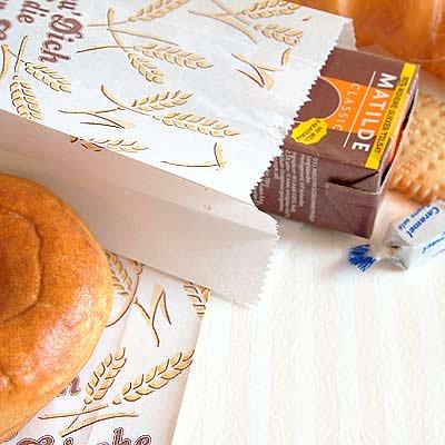 マルシェ袋 ドイツ  海外市場の紙袋(ブレッドバスケット)5枚セット【画像3】