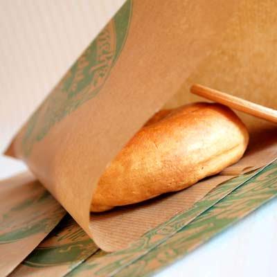 マルシェ袋 ドイツ 海外市場の紙袋 三角(フルーツA)5枚セット【画像3】