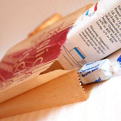 マルシェ袋 ドイツ 海外市場の紙袋(イラスト小麦)5枚セット【画像2】
