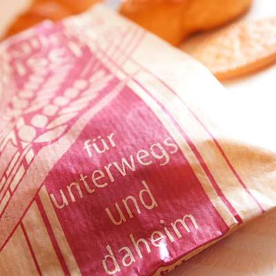 マルシェ袋 ドイツ 海外市場の紙袋(イラスト小麦)5枚セット【画像3】