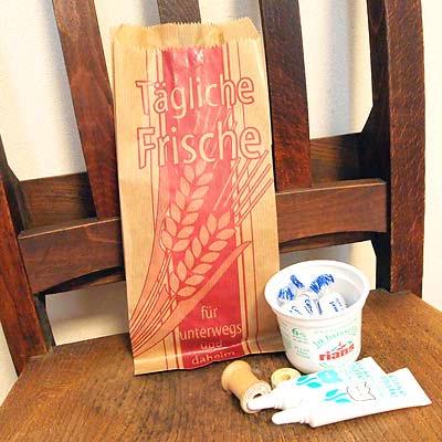 マルシェ袋 ドイツ 海外市場の紙袋(イラスト小麦)5枚セット【画像4】