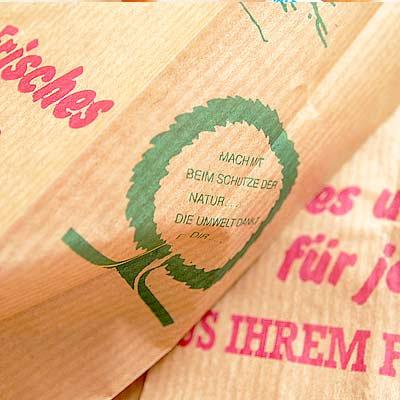 マルシェ袋 ドイツ 海外市場の紙袋(マルシェ 少女)5枚セット【画像2】