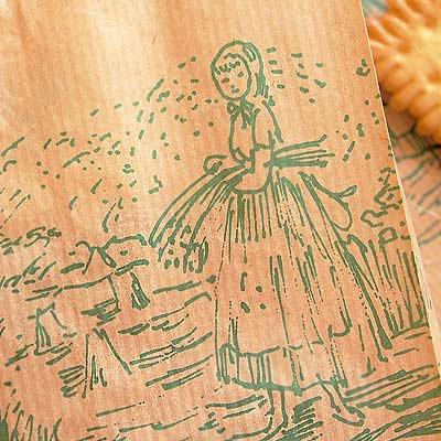 マルシェ袋 ドイツ 海外市場の紙袋(マルシェ 少女)5枚セット【画像3】