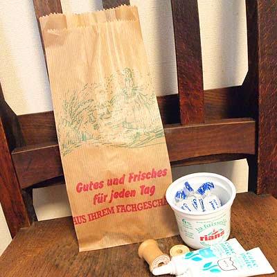 マルシェ袋 ドイツ 海外市場の紙袋(マルシェ 少女)5枚セット【画像4】