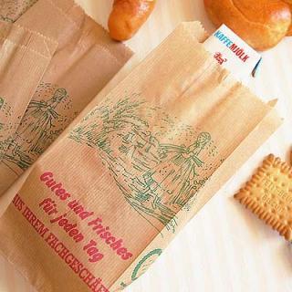 マルシェ袋 ドイツ 海外市場の紙袋(マルシェ 少女)5枚セット