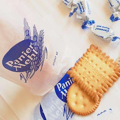 マルシェ袋 ドイツ 海外市場の紙袋(グラシン小麦)5枚セット【画像3】
