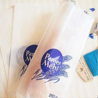 マルシェ袋 ドイツ 海外市場の紙袋(グラシン小麦)5枚セット