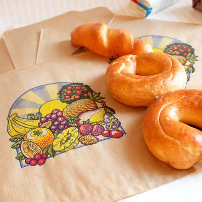 マルシェ袋 フランス 海外市場の紙袋(フルーツと太陽)5枚セット【画像2】