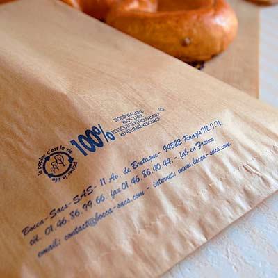 マルシェ袋 フランス 海外市場の紙袋(フルーツと太陽)5枚セット【画像3】