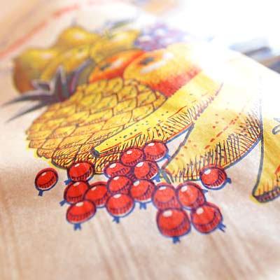 マルシェ袋 フランス 海外市場の紙袋(フルーツ雲太陽)5枚セット【画像2】