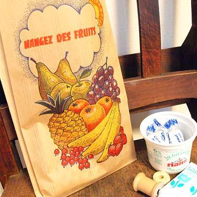 マルシェ袋 フランス 海外市場の紙袋(フルーツ雲太陽)5枚セット【画像4】