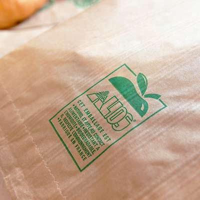 マルシェ袋 フランス 海外市場の紙袋(フルーツカートMサイズ)5枚セット【画像4】