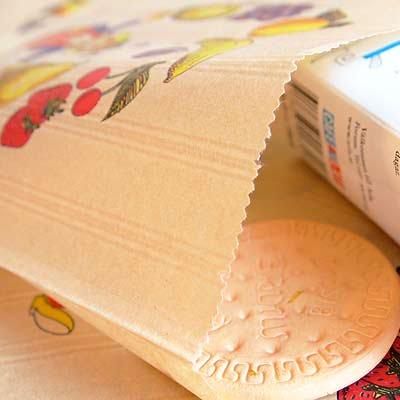 マルシェ袋 フランス 海外市場の紙袋(フルーツ道化師)5枚セット【画像3】
