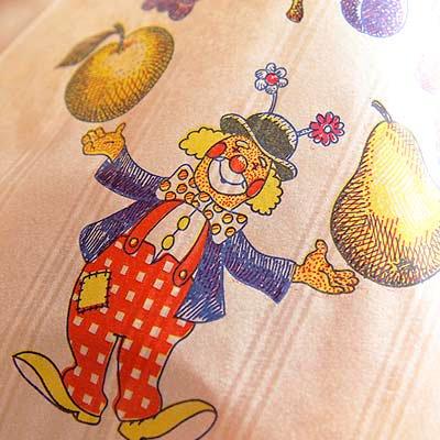 マルシェ袋 フランス 海外市場の紙袋(フルーツ道化師)5枚セット【画像4】